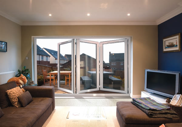 Bi-Fold Doors In White By Discount UPVC Windows Cardiff