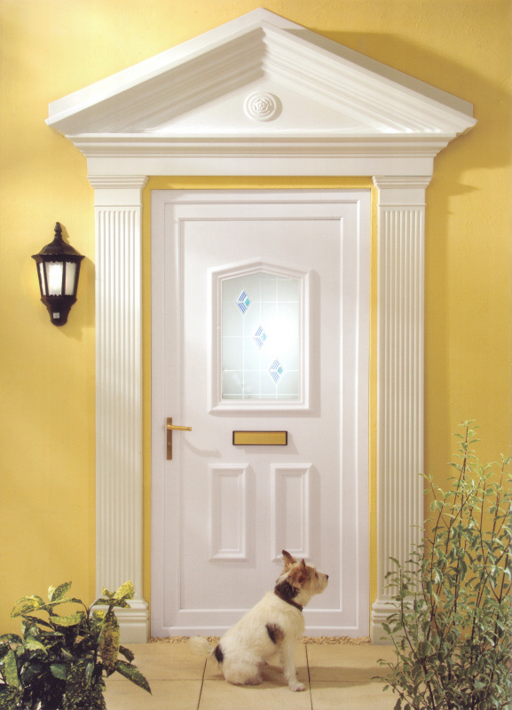 White UPVC front door with double glazing - Discount UPVC Windows