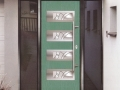 Light green composite door double glazed front discount upvc windows cardiff