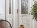 White UPVC front door by Discount UPVC Windows Cardiff upvc front door