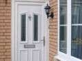 UPVC front door in White by Discount UPVC Windows Cardiff upvc front door