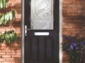 Black composite front door, the ultimate in security without compromise - Double Glazing as standard