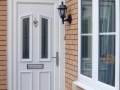 A UPVC front door  in white - Cardiff
