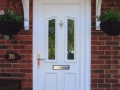 UPVC front door in white - Traditional, elegant and excellent value for money