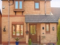 Brown UPVC windows and doors at a house in Cardiff