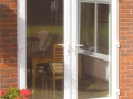 A set of white UPVC french doors Cardiff