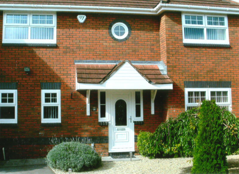 White UPVC windows and doors in Cardiff