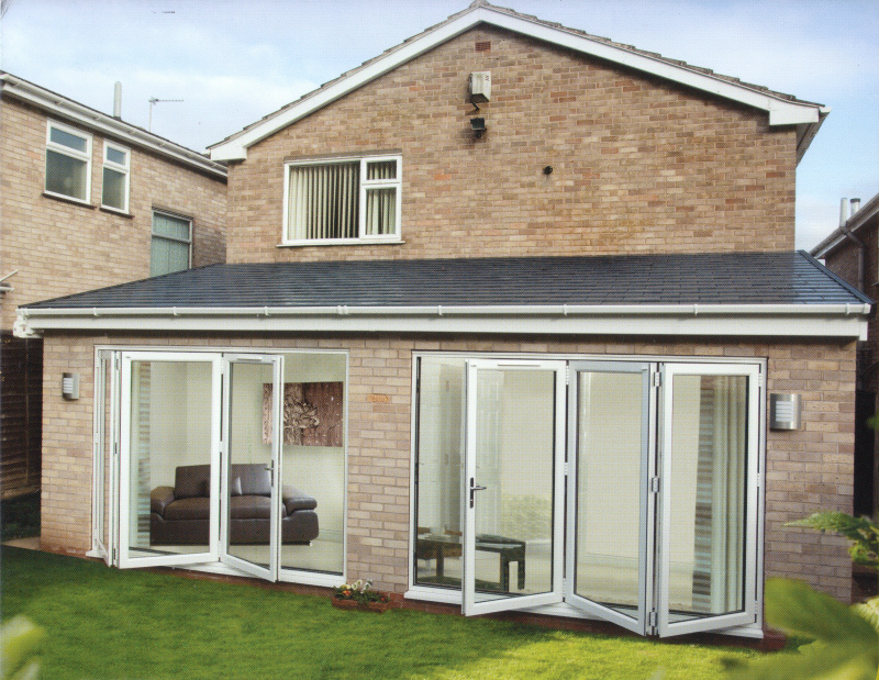 New white bifold doors in UPVC by Discount UVPC Windows, Cardiff